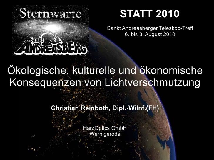STATT 2010                           Sankt Andreasberger Teleskop-Treff                                  6. bis 8. August ...