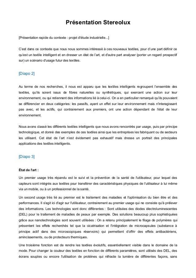 Présentation Stereolux [Présentation rapide du contexte : projet d'étude industrielle...] C'est dans ce contexte que nous ...