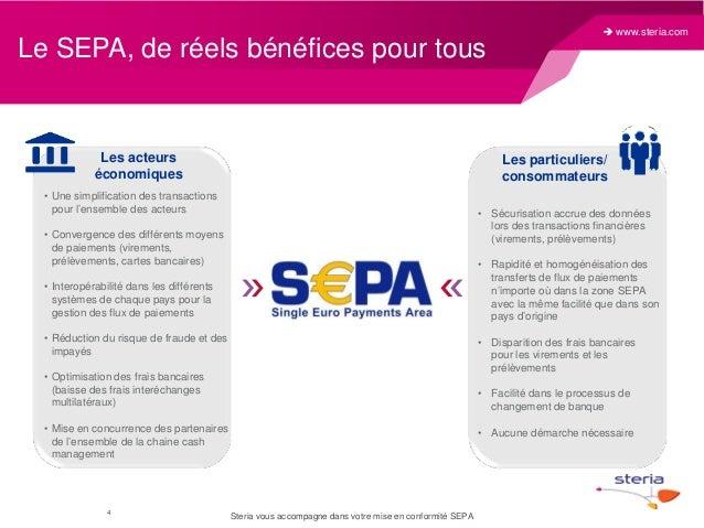Le SEPA, de réels bénéfices pour tous  Les acteurs économiques  Les particuliers/ consommateurs  • Une simplification des ...