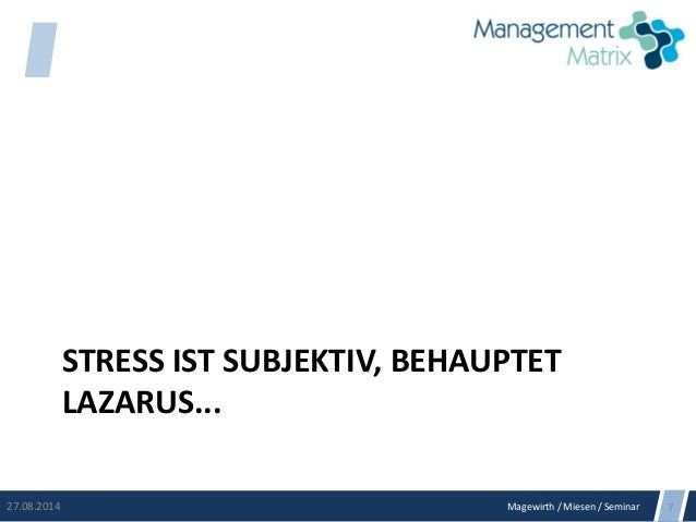 Stress managen Slide 3