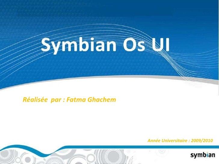 Réalisée  par : Fatma Ghachem<br />Année Universitaire : 2009/2010<br />