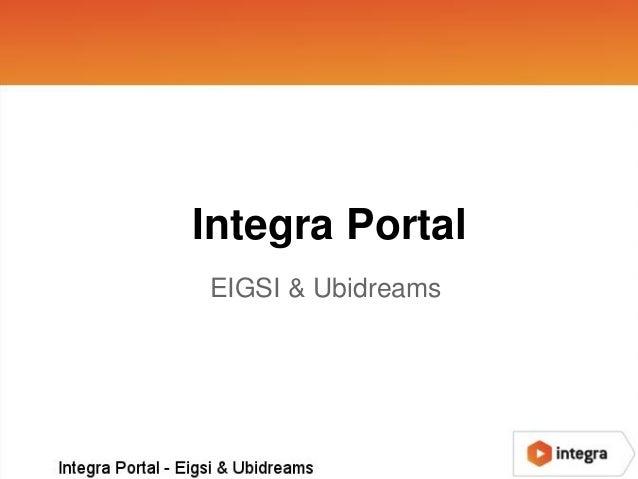 Integra PortalEIGSI & Ubidreams