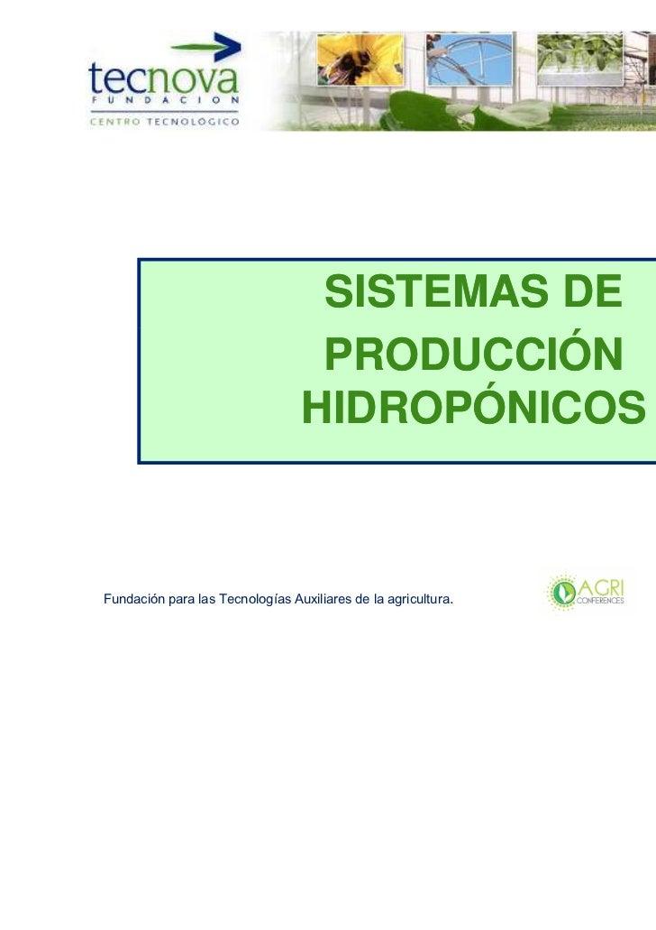 SISTEMAS DE                                  PRODUCCIÓN                                 HIDROPÓNICOSFundación para las Tec...