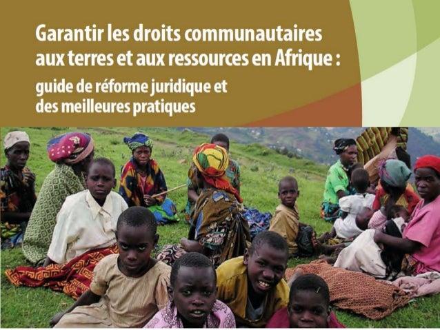 Télécharger le guide complet en Français http://www.fern.org/fr/lesdroit scommunitiare