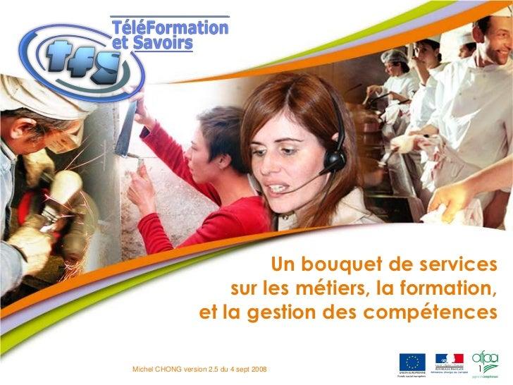 1<br />Un bouquet de services sur les métiers, la formation, et la gestion des compétences<br />Michel CHONG version 2.5 d...