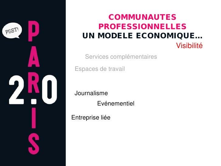 COMMUNAUTES        PROFESSIONNELLES     UN MODELE ECONOMIQUE…                      Visibilité      Services complémentaire...
