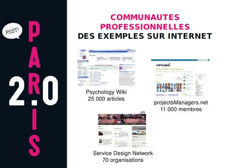 COMMUNAUTES     PROFESSIONNELLES DES EXEMPLES SUR INTERNET      Psychology Wiki   25 000 articles                         ...