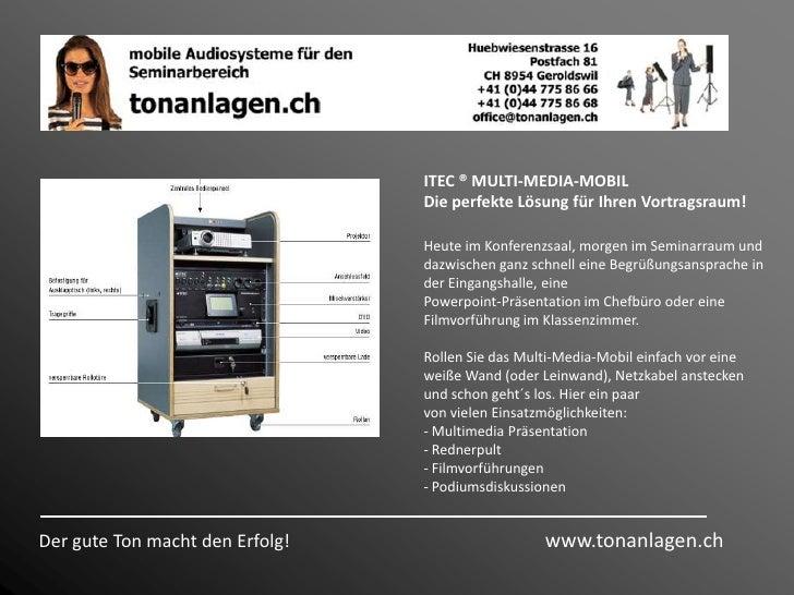 Hier die Produkte der Firma <br />ITEC AktivBox<br />Rednerpult SUCCESS<br />ITEC TwinBox<br />ITEC Multi-Media-Mobil<br /...