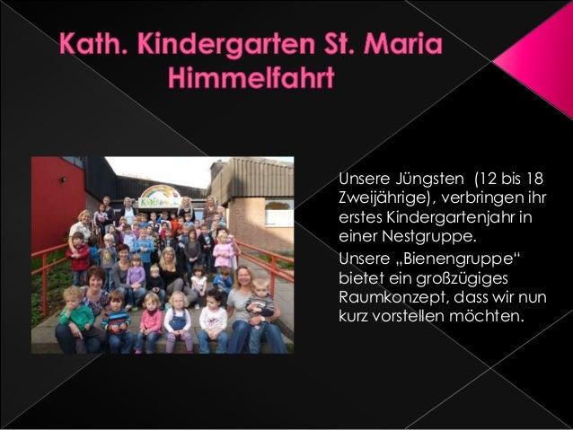 """Unsere Jüngsten (12 bis 18 Zweijährige), verbringen ihr erstes Kindergartenjahr in einer Nestgruppe. Unsere """"Bienengruppe""""..."""