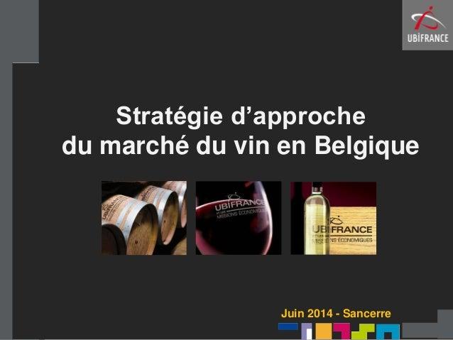 Stratégie d'approche du marché du vin en Belgique Juin 2014 - Sancerre