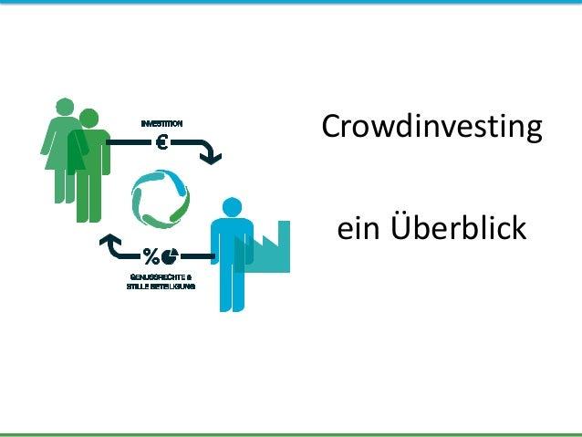 Crowdinvesting ein Überblick