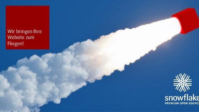 snowflake | 09.09.2013 1 Wir bringen Ihre Website zum Fliegen!