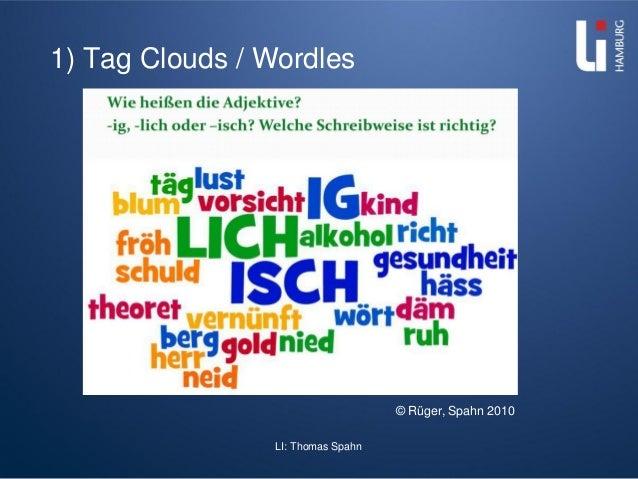 LI: Thomas Spahn 1) Tag Clouds / Wordles © Rüger, Spahn 2010