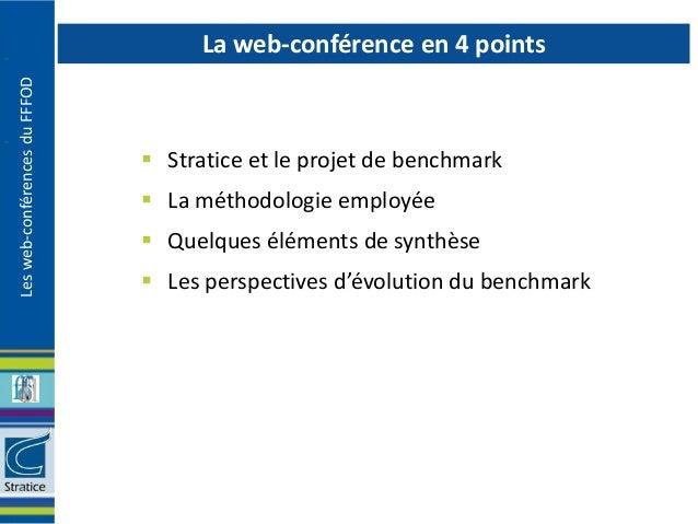 La web-conférence en 4 pointsLes web-conférences du FFFOD                                Stratice et le projet de benchma...