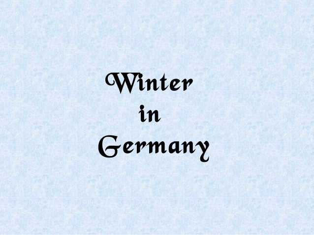 Winter  inGermany