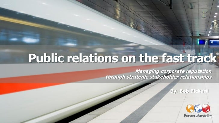 Public relations on the fast track                         Managing corporate reputation             through strategic sta...
