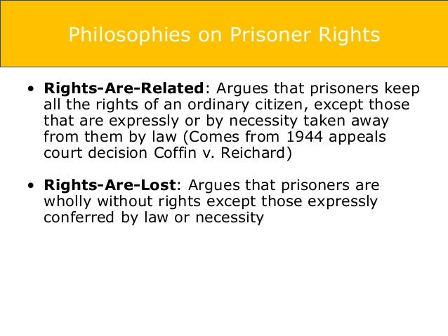 Rights of Inmates