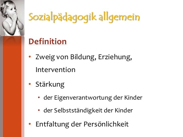 Sozialpädagogik Infos