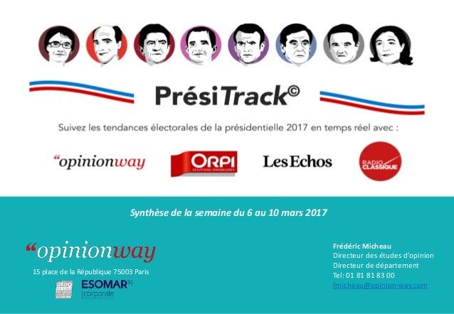 Frédéric Micheau Directeur des études d'opinion Directeur de département Tel: 01 81 81 83 00 fmicheau@opinion-way.com 15 p...