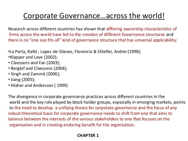 law ownership corporate governance and Corporate governance is here defined in a variety of  ownership and control: rethinking corporate  formal policy and rule of law – the corporate.
