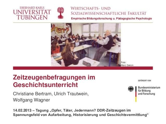 Empirische Bildungsforschung u. Pädagogische Psychologie                                                                 F...