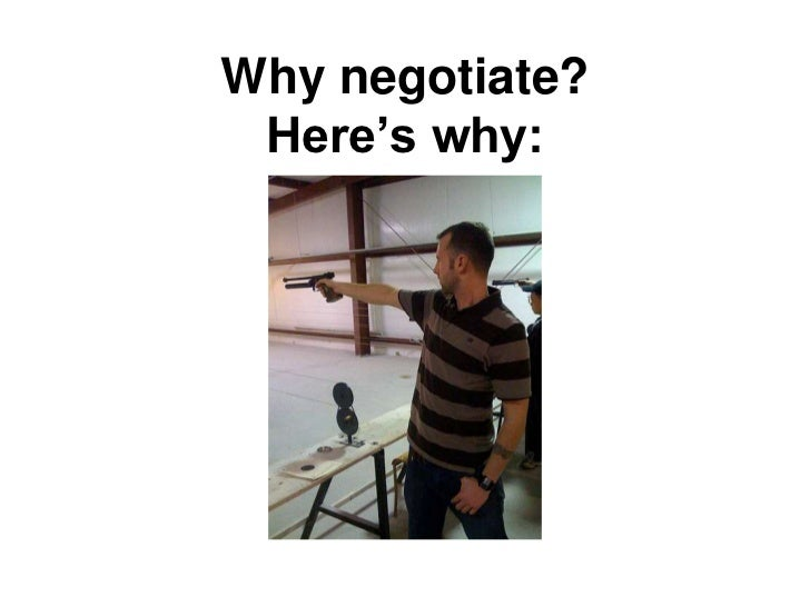 """Why negotiate? Here""""s why:"""