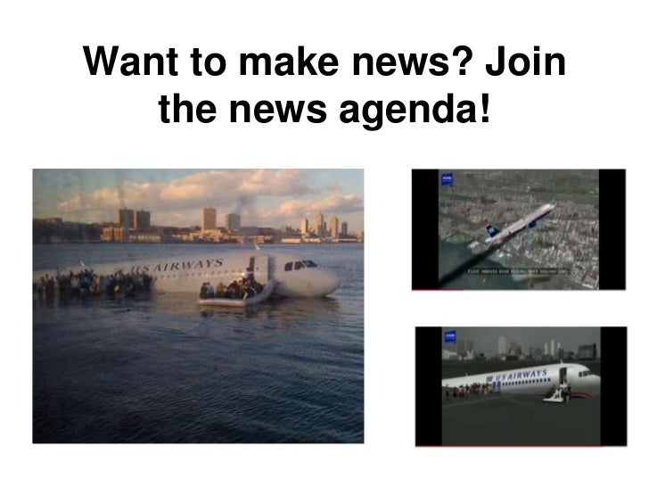 Want to make news? Join   the news agenda!