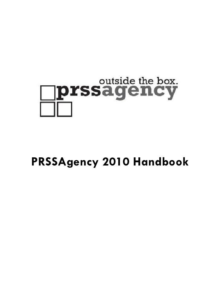 PRSSAgency 2010 Handbook