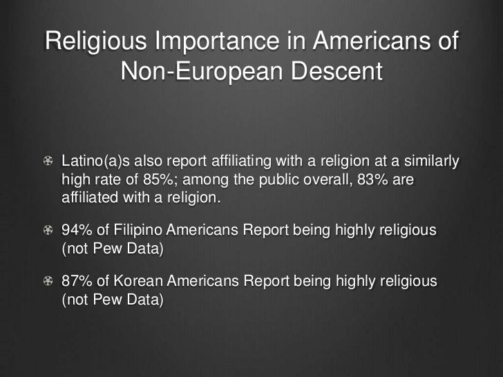 the impact of religion There's a growing belief that religion doesn't contribute to american society, but  the numbers don't support it religion in the united states.