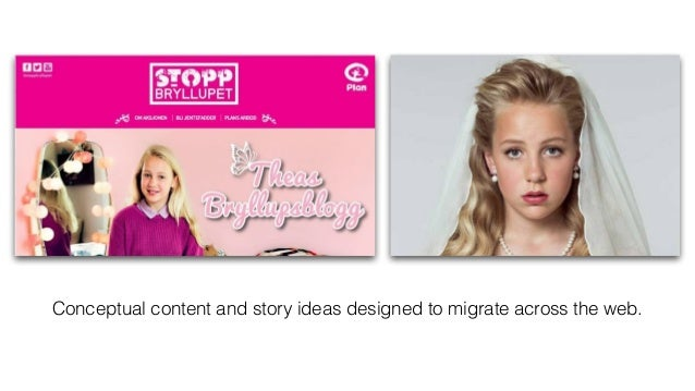 Conceptual content and story ideas designed to migrate across the web.