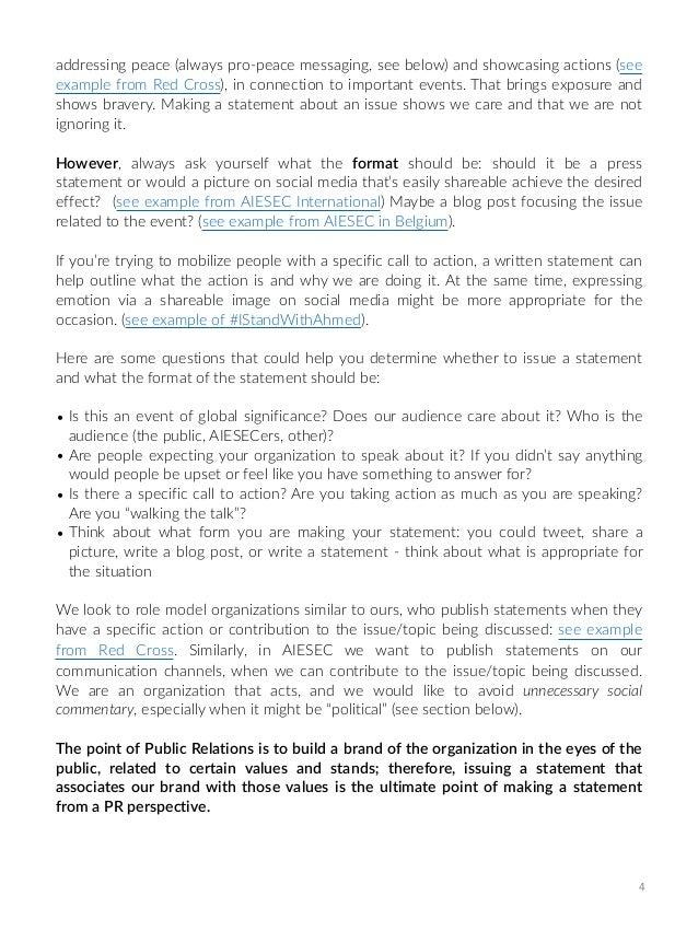 pr statements manual