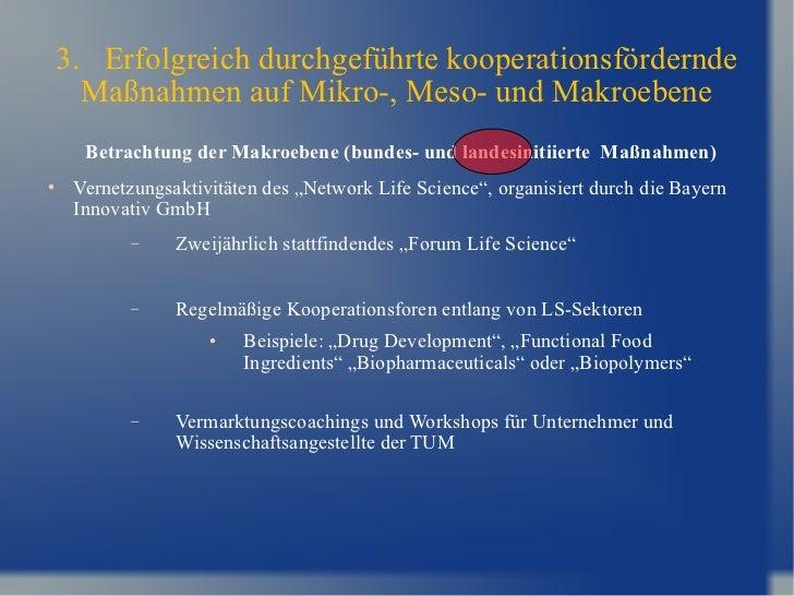 3.  Erfolgreich durchgeführte kooperationsfördernde Maßnahmen auf Mikro-, Meso- und Makroebene <ul><li>Betrachtung der Mak...