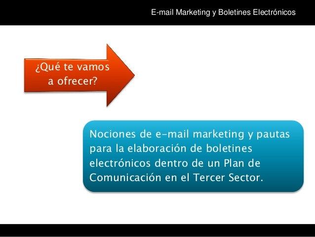 Tema 3 Curso Community Manager en el Tercer Sector (cm3sector): Newsletter Slide 2