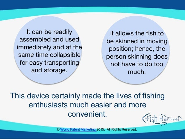 World patent marketing invention group issues 2016 fishing for The fish 95 5