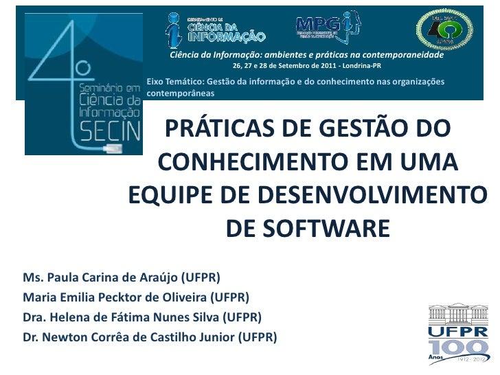 Ciência da Informação: ambientes e práticas na contemporaneidade<br />26, 27 e 28 de Setembro de 2011 - Londrina-PR<br />E...