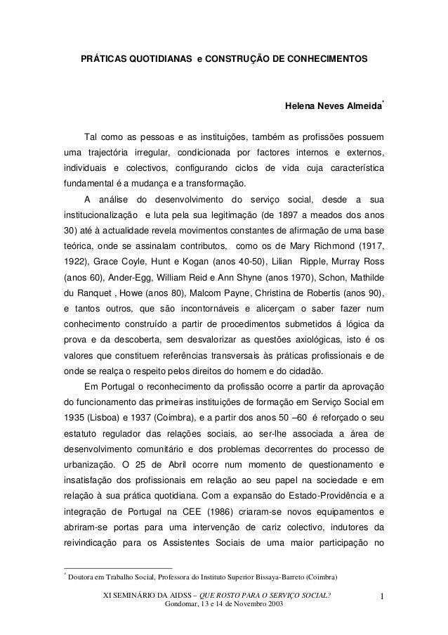 PRÁTICAS QUOTIDIANAS e CONSTRUÇÃO DE CONHECIMENTOS                                                                        ...