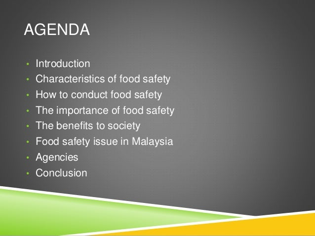 Food Safety And Public Health
