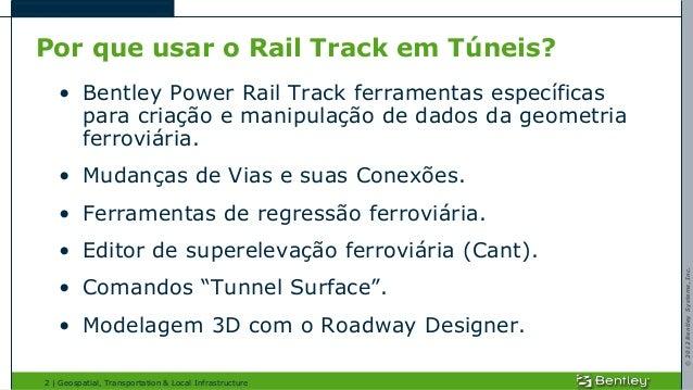 Análise de Túneis com Power Rail Track Slide 2