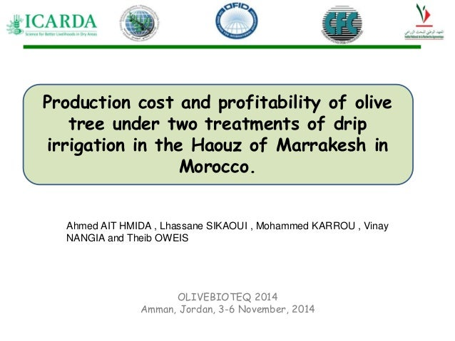 Production Cost And The Profitability Of Olive Trees Under Two Treatm