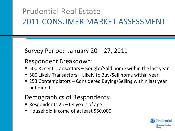 Prudential Real Estate  '11 Consumer Market Assessment