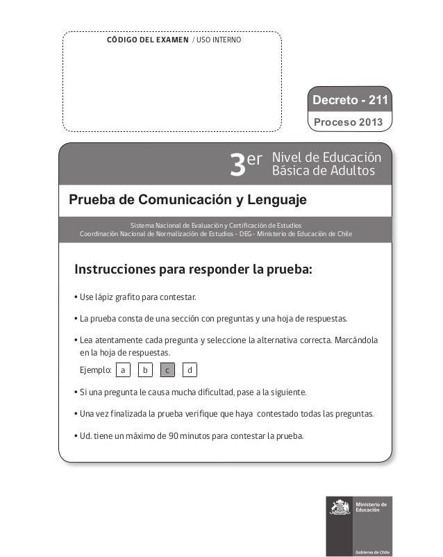 Prueba de ensayo 3 nb comunicación y lenguaje