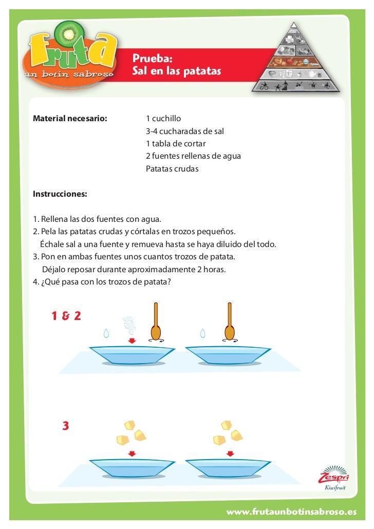 Prueba:                           Sal en las patatasMaterial necesario:          1 cuchillo                       ...