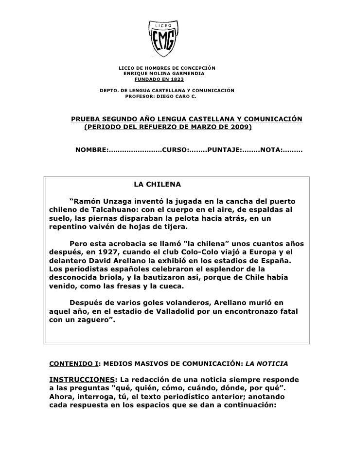 LICEO DE HOMBRES DE CONCEPCIÓN                     ENRIQUE MOLINA GARMENDIA                        FUNDADO EN 1823        ...