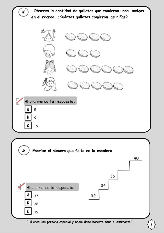 Prueba 2° entrada 2014 matematica minedu