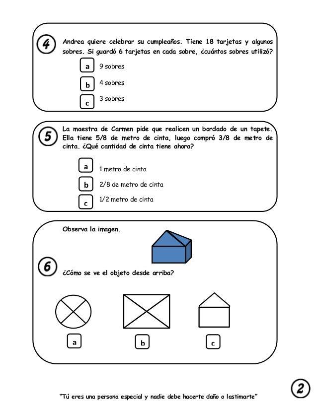 Prueba censal para segundo grado 2016 colecci n de for Prueba docente 2016