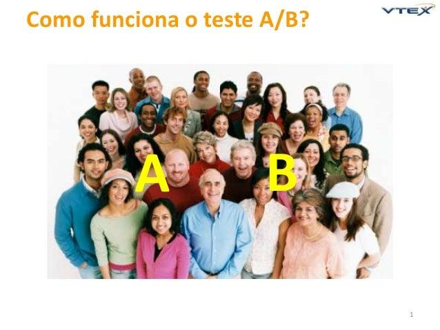Como funciona o teste A/B?  A  B 1