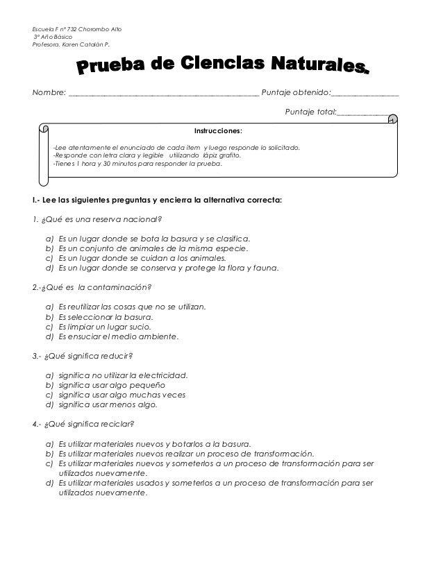 prueba ciencias la contaminaci n