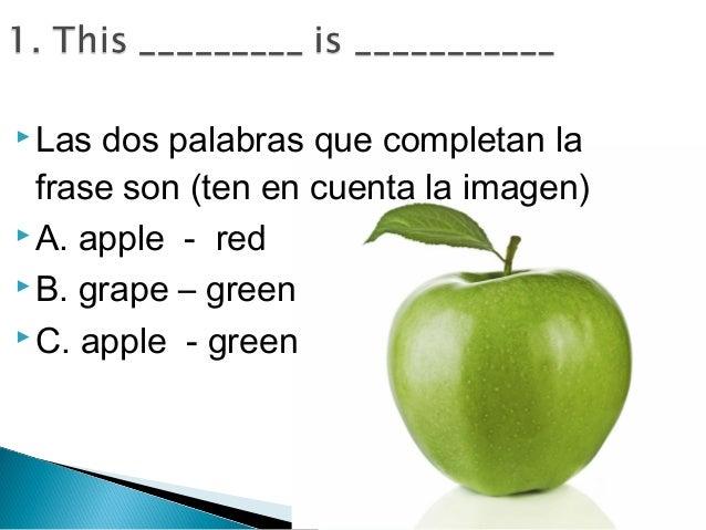 Cuestionario, prueba, preguntas de repaso inglés 4° (cuarto ...