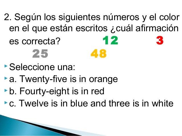Cuestionario, prueba, preguntas de repaso inglés 4° (cuarto primaria)
