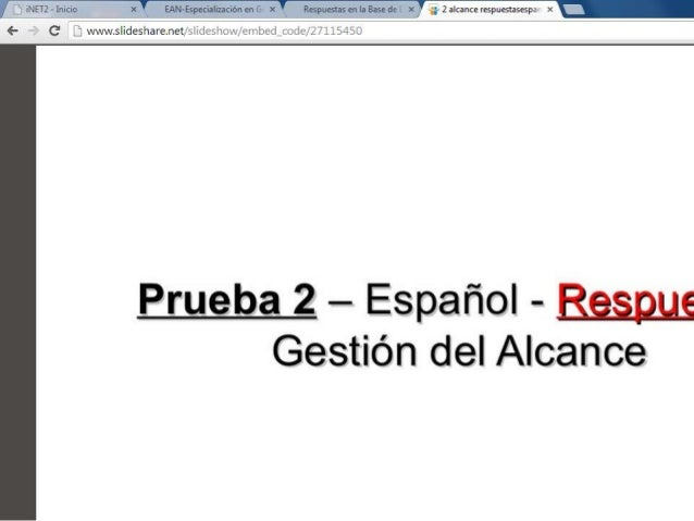 PRUEBA DE ALCANCE (CON RESPUESTAS)  PMP-PMI